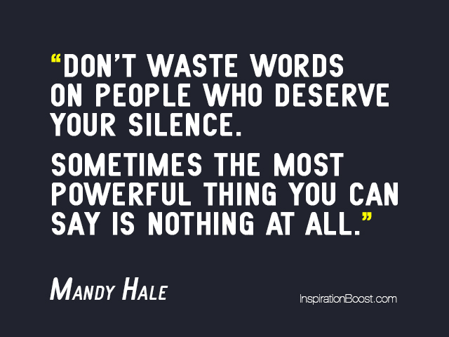 Mandy Hale Silence Quotes