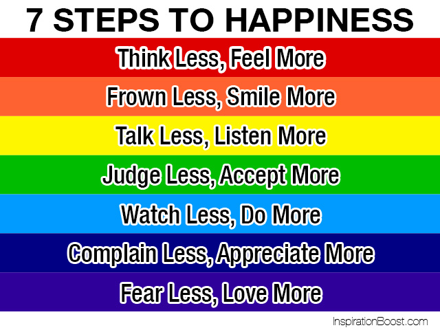 Amazing Seven Steps To Happiness