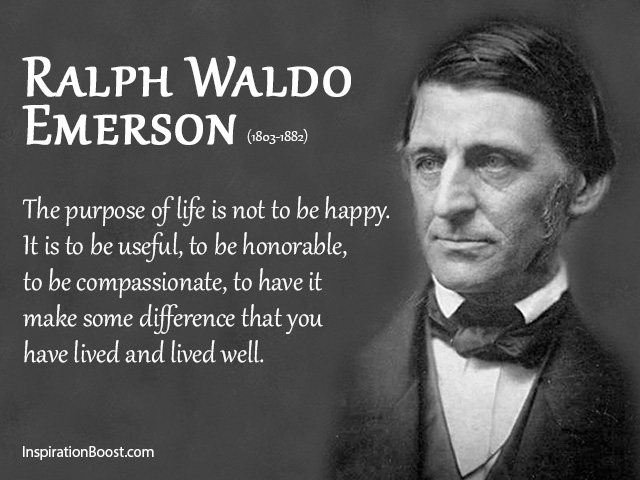 Back To Ralph Waldo Emerson Purpose Of Life Quotes · Quotes About Make A  Difference