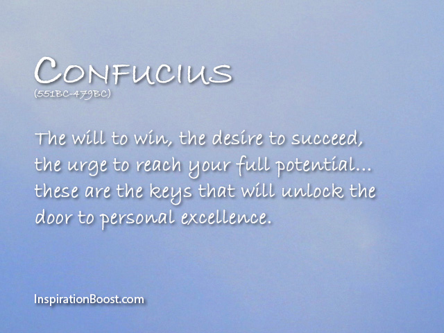 Confucius Will to Win Quotes | Inspiration Boost