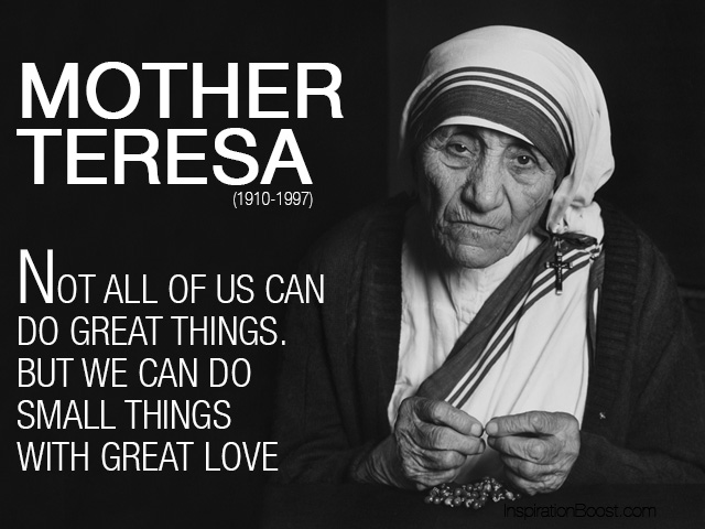 Mother Teresa Love Quotes Inspiration Boost