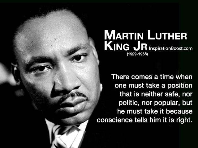 Martin Luther King Jr Responsible Quotes Inspiration Boost